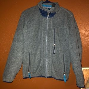 Patagonia Size XS Gray and Blue Fleece Jacket